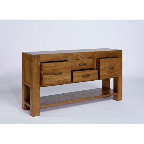Hall Table With Drawers rustic oak hall table