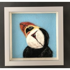 Needlefelted Puffin (blue)