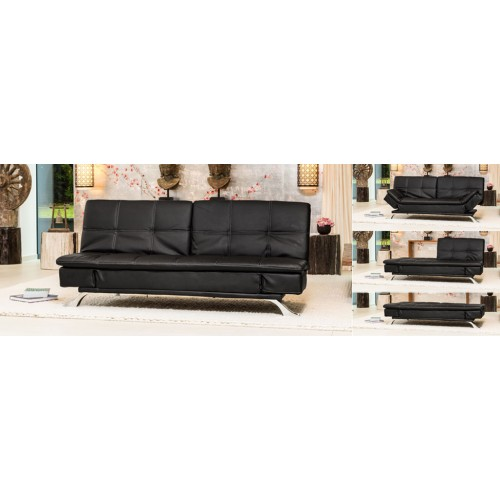 Click Clack Bonded Leather Sofabed Large